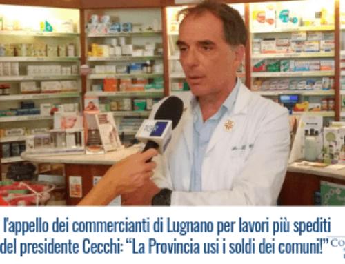 Al Tg Regione l'appello dei commercianti di Lugnano per lavori più spediti