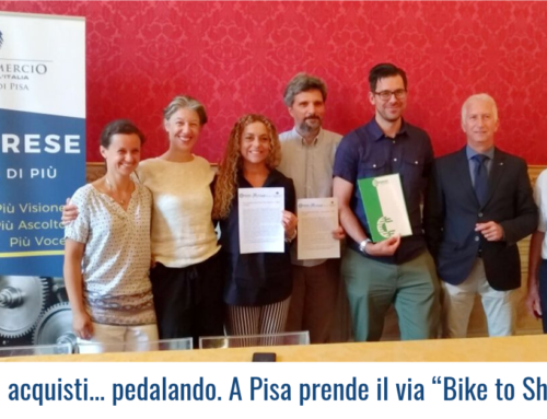 "Fare acquisti… pedalando. A Pisa prende il via ""Bike to Shop"""