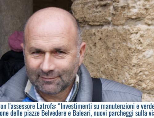 """Incontro con l'assessore Latrofa: """"Investimenti su manutenzioni e verde pubblico, riqualificazione delle piazze Belvedere e Baleari, nuovi parcheggi sulla via Litoranea"""""""