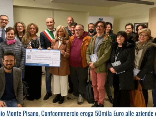 Incendio Monte Pisano, Confcommercio eroga 50mila Euro alle aziende colpite