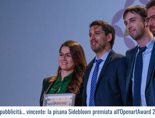 Una pubblicità… vincente: la pisana Sidebloom premiata all'OpenartAward 2019!