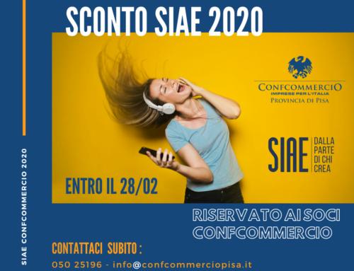 Sconto Soci SIAE 2020