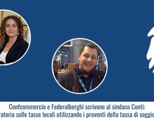 """Confcommercio e Federalberghi scrivono al sindaco Conti: """"Moratoria sulle tasse locali utilizzando i proventi della tassa di soggiorno"""""""