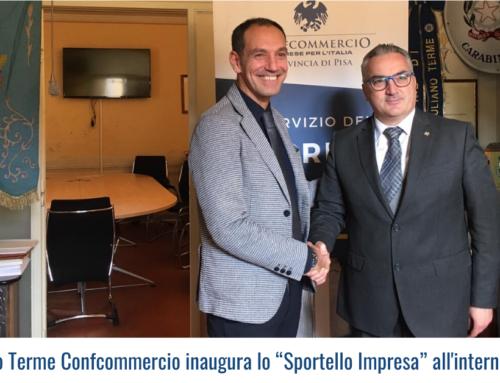 """A San Giuliano Terme Confcommercio inaugura lo """"Sportello Impresa"""" all'interno del Comune"""