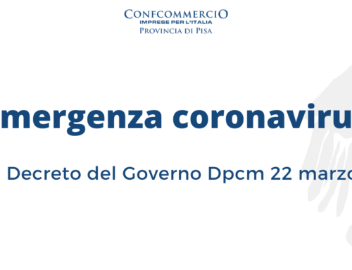 Emergenza Coronavirus: Nuovo Decreto del Governo Dpcm 22 marzo 2020