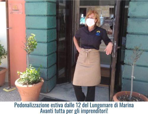 Pedonalizzazione estiva dalle 12 del Lungomare di Marina Avanti tutta per gli imprenditori!