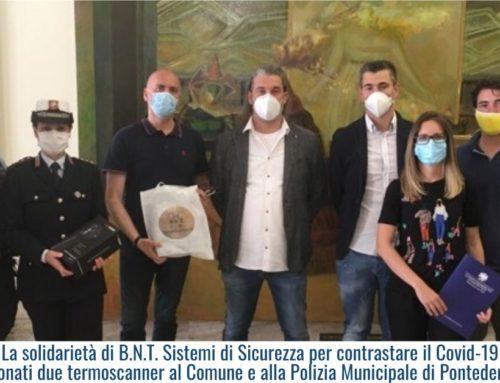 La solidarietà di B.N.T. Sistemi di Sicurezza per contrastare il Covid-19