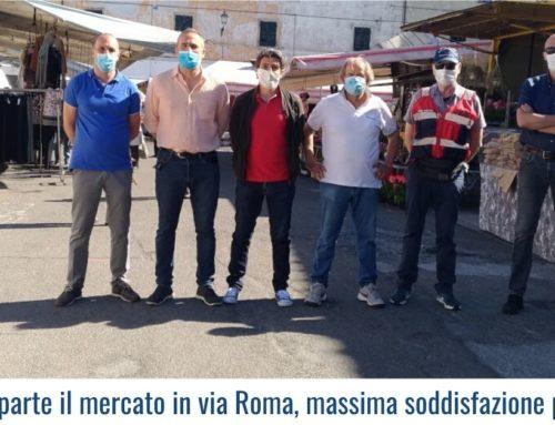 Calci: riparte il mercato in via Roma, massima soddisfazione per tutti