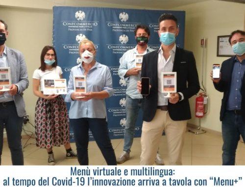 """Menù virtuale e multilingua: al tempo del Covid-19 l'innovazione arriva a tavola con """"Menu+"""""""