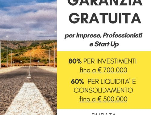 Accesso al Credito: Garanzia gratuita per Imprese, Professionisti e Start-up