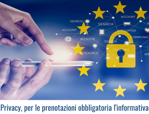 Privacy, per le prenotazioni obbligatoria l'informativa