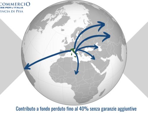 INTERNAZIONALIZZAZIONE: FONDO PERDUTO AL 40% SENZA GARANZIE AGGIUNTIVE