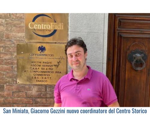 San Miniato, Giacomo Gozzini nuovo coordinatore del Centro Storico