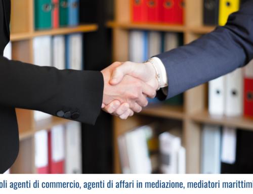 Revisione ex ruoli agenti di commercio, agenti di affari in mediazione, mediatori marittimi e spedizionieri