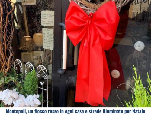 Montopoli, un fiocco rosso in ogni casa e strade illuminate per Natale