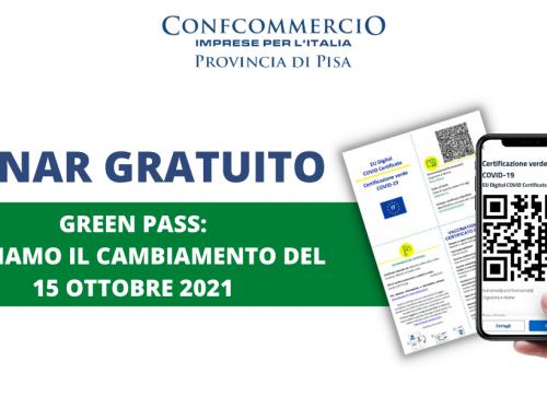 Webinar gratuito: Green pass, gestiamo il cambiamento del 15 ottobre 2021